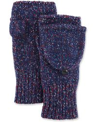 Rag & Bone - Cheryl Speckled Fingerless Convertible Mittens - Lyst