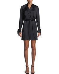 A.L.C. - Kendall Tie-waist Silk Trench Coat - Lyst