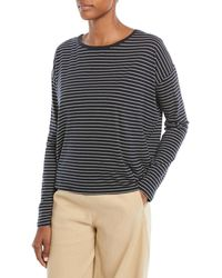 Vince - Pencil-stripe Relaxed Long-sleeve Top - Lyst