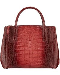 Nancy Gonzalez - Nix Medium Ombre Crocodile Zip Tote Bag - Lyst