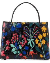 Nancy Gonzalez - Wallis Large Floral Crocodile Tote Bag - Lyst