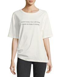 Public School - Everything I Like Crewneck Cotton T-shirt - Lyst