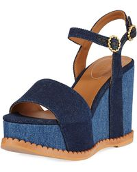 See By Chloé - Carrie Super Wedge Sandals - Lyst