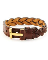 Tom Ford - Nashville Men's Braided Leather Bracelet - Lyst