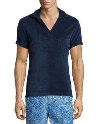 Orlebar Brown - Terry Towel Short-Sleeve Polo Shirt - Lyst