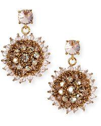 Oscar de la Renta - Beaded Clip-on Earrings - Lyst
