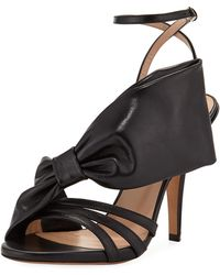 Valentino - Large Bow Leather Sandal - Lyst