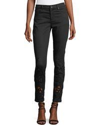Elie Tahari   Azella Embroidered Skinny Jeans   Lyst
