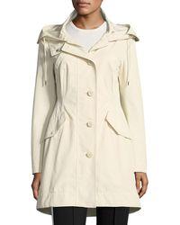 Moncler - Audrey Long Utility Coat W/ Hood - Lyst