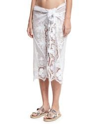 Miguelina - Layna Cotton Lace Pareo Coverup - Lyst