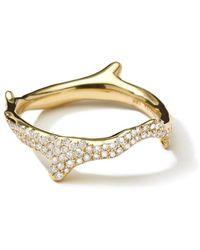 Ippolita 18k Diamond Stardust Branch Ring - Metallic