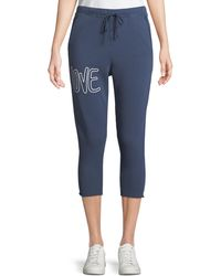 Frank & Eileen - Cropped Love Raw-edge Graphic Joggers - Lyst