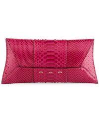 VBH - Manila Stretch Shiny Iridescent Python Clutch Bag - Lyst