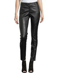 Lafayette 148 New York - Leather Mercer Mid Rise Skin - Lyst