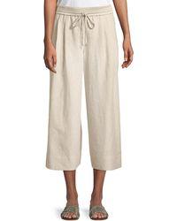 Lafayette 148 New York - Reade Striped Wide-leg Crop Trousers - Lyst