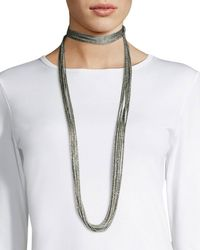 Lafayette 148 New York - Tea Long Mesh Necklace - Lyst