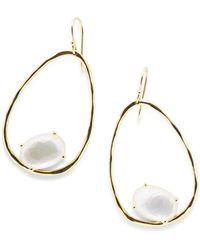 Ippolita - 18k Rock Candy Tipped Oval Wire Earrings In Mother-of-pearl - Lyst