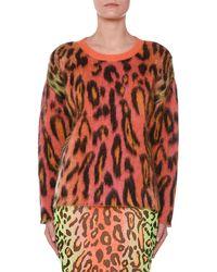 Stella McCartney - Leopard Print Mohair Sweater - Lyst