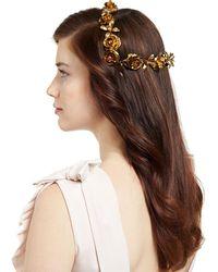 Jennifer Behr - Rosabel Rose Hair Coronet - Lyst