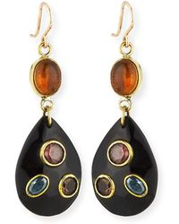 Ashley Pittman Kuu Dark Horn Drop Earrings n3155z68o