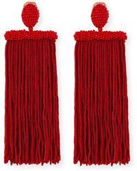 Oscar de la Renta - Silk Tassel Waterfall Clip-on Earrings - Lyst