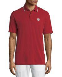 Z Zegna - Men's Logo-applique Wool Polo Shirt - Lyst