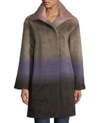 Agnona - Ombre Alpaca Coat - Lyst