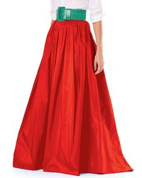 Carolina Herrera - Finale Silk Ball Skirt W/ Train - Lyst