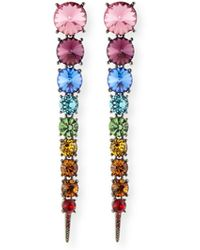 Oscar de la Renta | Swarovski Crystal Cascade Rainbow Tendril Earrings | Lyst