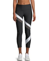 Under Armour - Heatgear® Striped Cropped Performance Leggings - Lyst