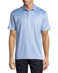 Ermenegildo Zegna - Silk-blend Polo Shirt - Lyst