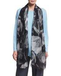 Eskandar - Printed Silk Georgette Scarf - Lyst