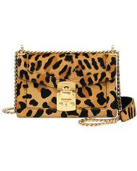 33be60efcd Jimmy Choo 'lockett Xb' Leopard Print Pony Hair Trim Leather Bag in ...