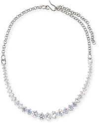 Fallon - Monarch Graduated Crystal Choker Necklace - Lyst
