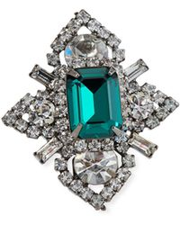 Elizabeth Cole - Eden Crystal Ring - Lyst