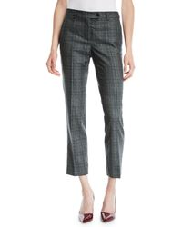 Kiton - Plaid Skinny Ankle Cashmere-blend Trousers - Lyst
