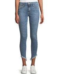 Joe's Jeans - Marcela Icon Ankle Skinny Jeans With Diagonal Fray Hem - Lyst