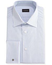 Ermenegildo Zegna - Dotted-stripe Dress Shirt - Lyst