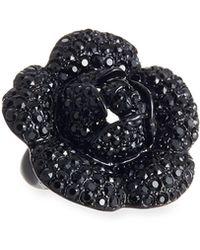 Oscar de la Renta - Gardenia Pavé Swarovski Crystal Ring - Lyst