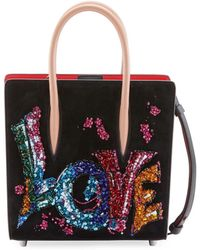 Christian Louboutin - Paloma Small Embroidered Tote Bag - Lyst b937a57f616eb