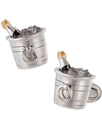 Jan Leslie - Sterling Silver & Crystal Quartz Champagne Bucket Cuff Links - Lyst