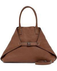 Akris - Asymmetric Leather Tote Bag  - Lyst