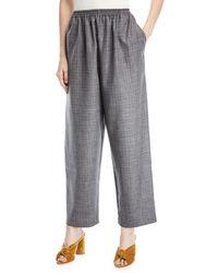 Eskandar - Crosshatched Japanese Trousers - Lyst