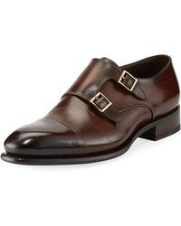 Santoni - Carter Double-monk Shoe - Lyst