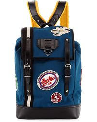Bally - Alpina Men's Canvas Backpack With Patches - Lyst