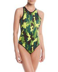 CARDO Paris - Cardorider Camo-print One-piece Swimsuit - Lyst