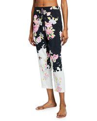 Natori - Gardenia Floral-print Lounge Pants - Lyst