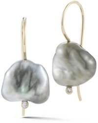 Mizuki - Sea Of Beauty Pearl & Diamond Drop Earrings - Lyst