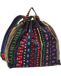 Etro - Geometric-printed Nylon Backpack - Lyst