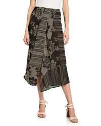 Zero + Maria Cornejo - Cross-stitch Embroidered Maxi Skirt - Lyst